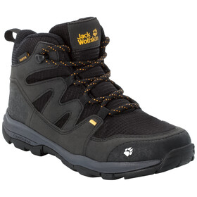 Jack Wolfskin MTN Attack 3 Texapore Mid Shoes Kids black/burly yellow XT